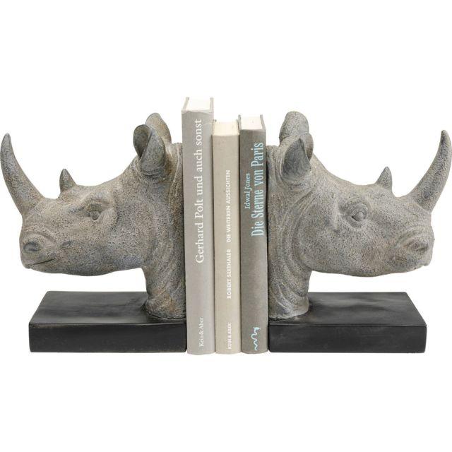 Karedesign Serre-livres rhinocéros set de 2 Kare Design