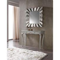 Ma Maison Mes Tendances - Miroir carré en polyuréthane argenté Solis - L 93 x l 93
