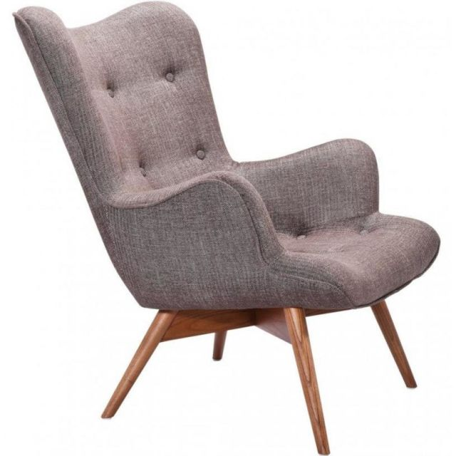 Inside 75 Fauteuil Angel, coton taupe