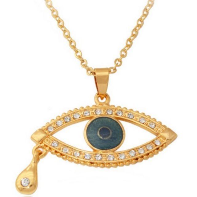 4e43ca65358 Au Marche Du Luxe - Pendentif plaqué or 18 carats oeil bleu - pas ...