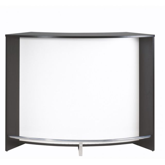 simmob meuble bar comptoir de cuisine accueil noir coloris blanc pas cher achat. Black Bedroom Furniture Sets. Home Design Ideas