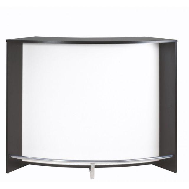 Simmob Meuble Bar Comptoir De Cuisine Accueil Noir Coloris