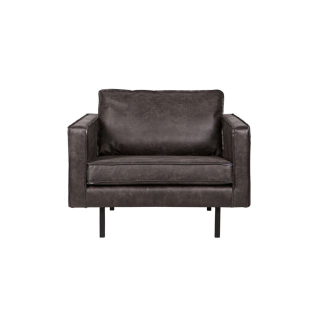 BEPUREHOME Fauteuil Noir - Collection Rodeo - Be Pure Home