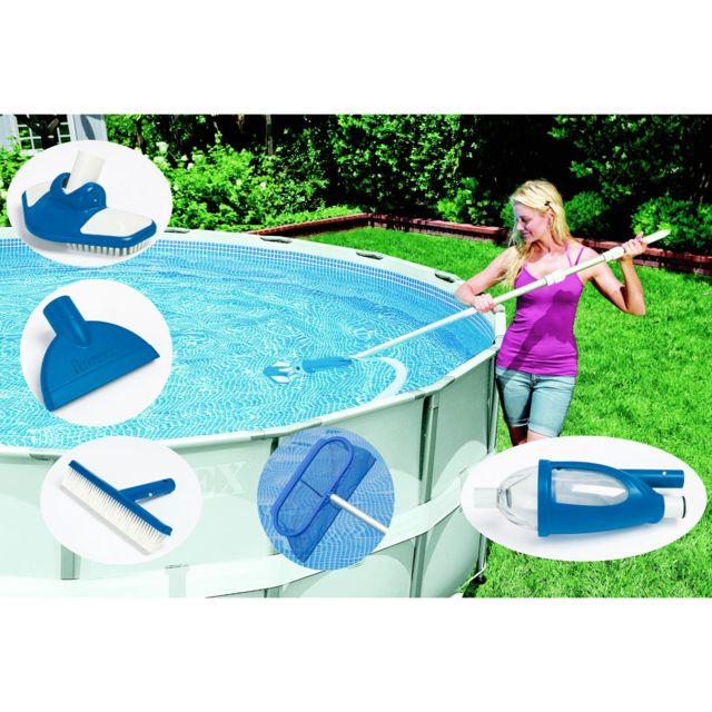 intex kit d 39 entretien vac plus pas cher achat vente accessoires piscines hors sol. Black Bedroom Furniture Sets. Home Design Ideas