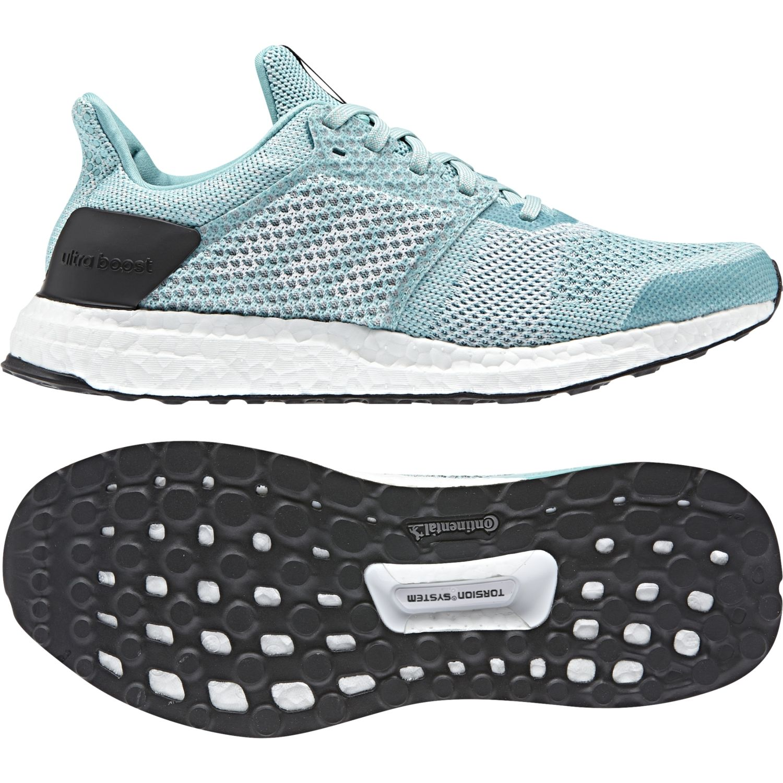 Adidas - Chaussures femme UltraBoost St Parley bleu turquoise/blanc/rose mat - pas cher Achat / Vente Chaussures running