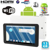 Tablette tactile Android 4.2 Jelly Bean 7 pouces Dual Core Blanc 16Go