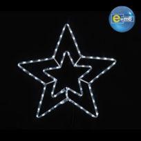 - Guirlande de Noël lumineuse étoile double niveau 56 cm