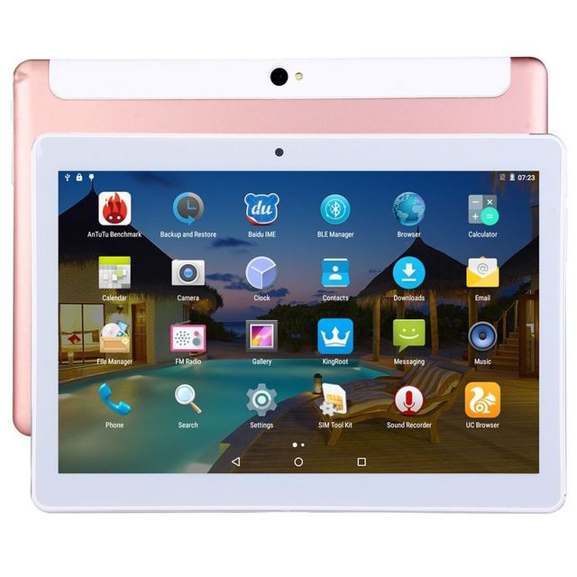 Yonis Tablette 4G 10 Pouces Ips 2K Android Octa Core 2Go Ram 32Go Or Rose