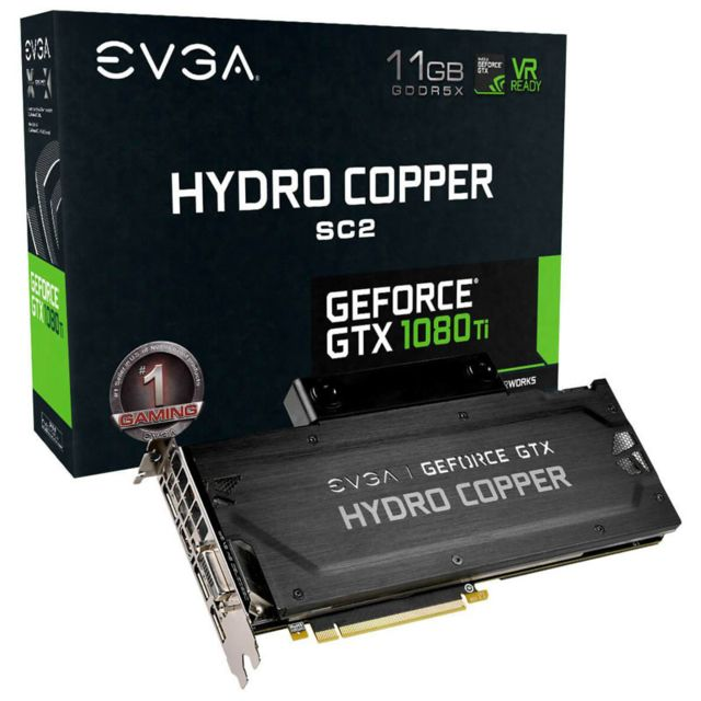 Evga Carte graphique GeForce Gtx 1080 Ti Sc2 iCX Hydro Copper, 11264 Mb Gddr5X