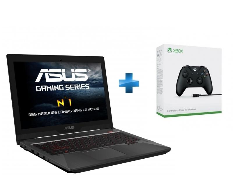 FX502VD-DM173T - Noir + Manette Xbox One + Câble pour Windows