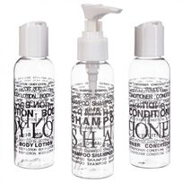 Paris Prix - Set de 3 Flacons de Voyage Transparent