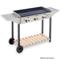 ROLLER GRILL - desserte inox et bois pour plancha 900 - chps900