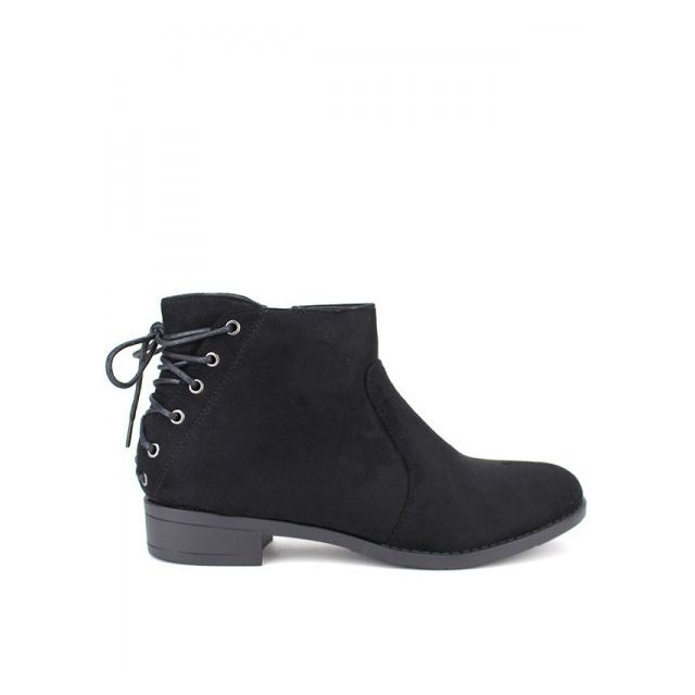 4dd4573cfadb Cendriyon - Bottine Daim noire Cheana - pas cher Achat   Vente Boots ...