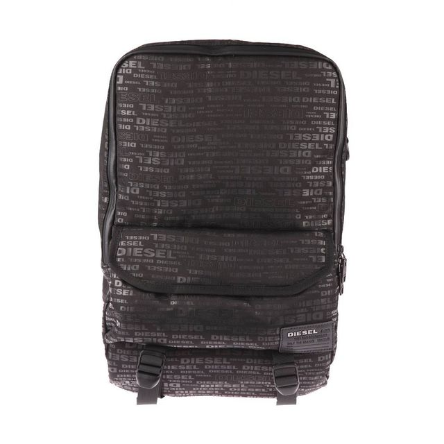 4050ea15f0 Diesel - Sac à dos Close Ranks noir monogrammé à compartiment ordinateur 13  pouces - pas cher Achat / Vente Sacs à dos - RueDuCommerce