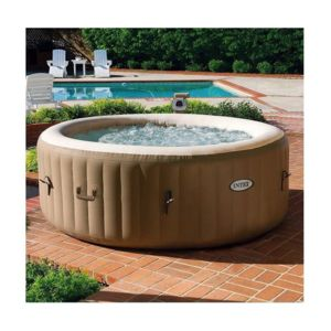 Intex spa gonflable purespa rond bulles 4 places pas for Jacuzzi hinchable carrefour