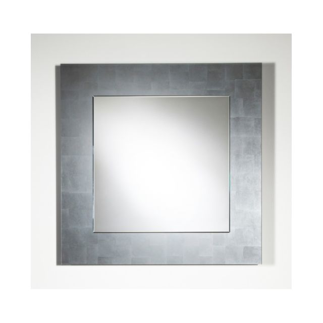 Deknudt Mirrors Miroir Basic Square Silver / Argent Modern Traditionnel Rectangulaire 85x85 cm