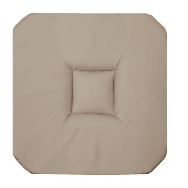 Coton D'INTERIEUR Cdaffaires Galette 4 rabats 36 x 36 x 3.5 cm coton uni panama Lin