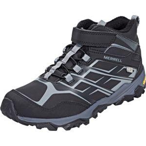 Chaussures Merrell Moab noires garçon 1aPXHLM