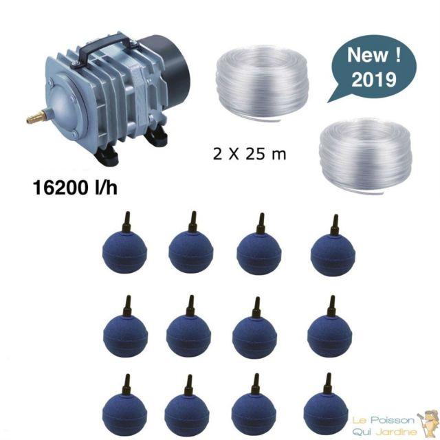 Le Poisson Qui Jardine Set aération bassin de jardin 12 boules de 30000 à 50000 litres
