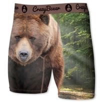 Crazy - Crazyboxer Boxer Long Homme Microfibre Bm6ASS1 Grizzli Marron