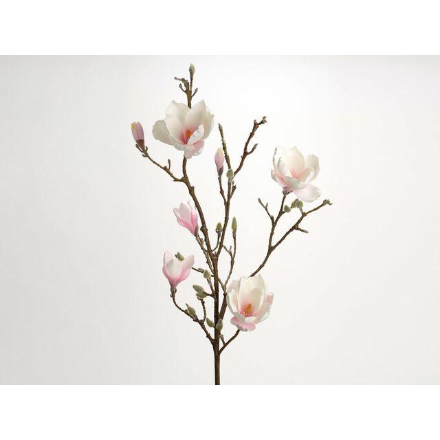 Amadeus Fleur Artificielle Magnolia Rose H 110cm Nature Pas Cher