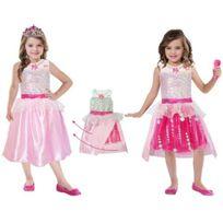 Amscan - Déguisement Barbie Rock & Royals Premium - Taille : 5/7 ans 108 à 120cm