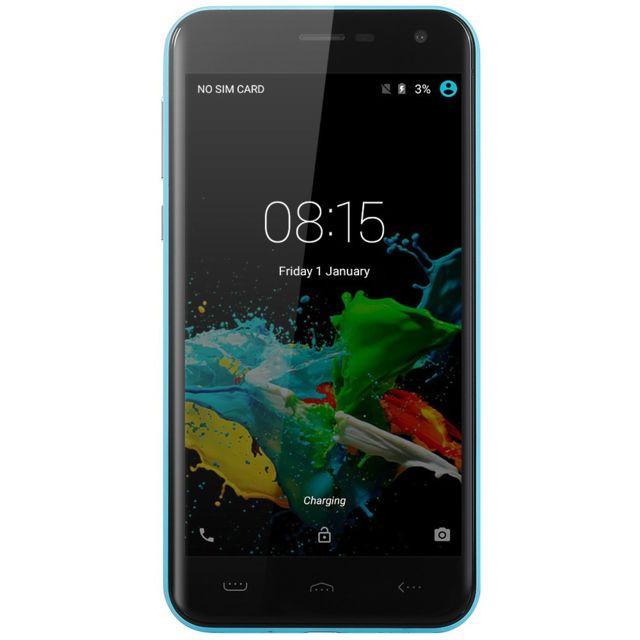 Auto-hightech Smartphone 5 pouces avec Android 5.1, quad core, 3G - Bleu