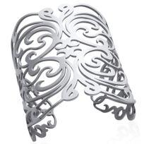 Collection Zanzybar - Bracelet femme manchette acier collection Rock ajouré dentelle