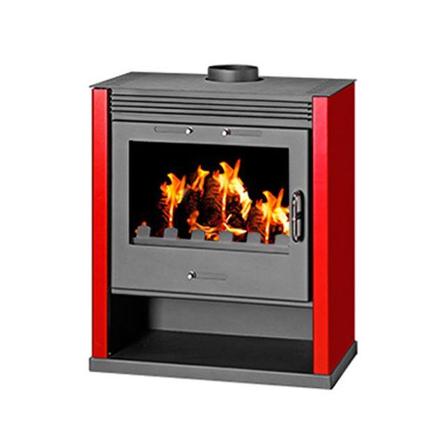 victoria poele a bois rubin 13 0kw noir rouge pas cher achat vente po les bois. Black Bedroom Furniture Sets. Home Design Ideas