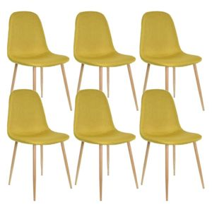 Chaise design jaune gallery of chaise design bois for Chaise zons
