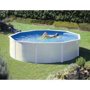 abak piscine acier saphir hors sol blanche 4 95 x 1. Black Bedroom Furniture Sets. Home Design Ideas