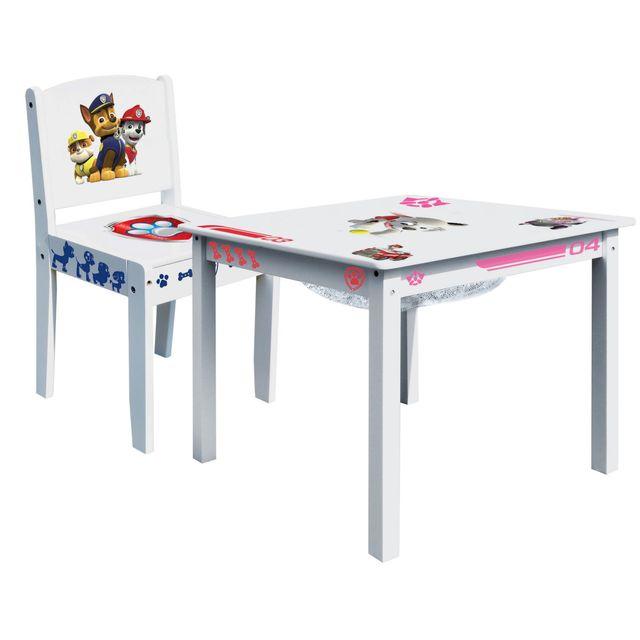 Worlds Apart Ensemble Table de jeu enfant avec rangement et chaise enfant Pat Patrouille