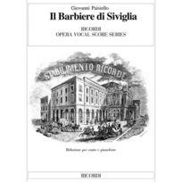 Ricordi - Paisiello G Barbiere Di Siviglia - Chant Et Piano