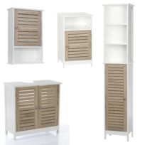 meubles salle de bain bois blanc - Achat meubles salle de bain bois ...