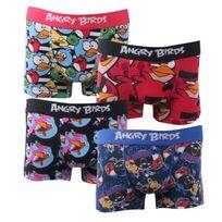 Angry Birds - Boxers enfant lot de 4 Couleur - Rouge/Bleu Clair, Taille - 8/10A