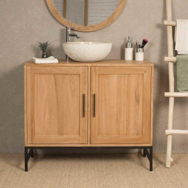 Wanda collection meuble de salle de bain en teck pablo Meuble haut salle de bain pas cher