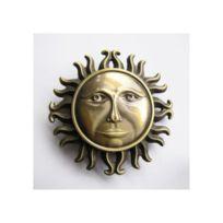 Universel - Boucle de ceinture visage soleil doré homme femme
