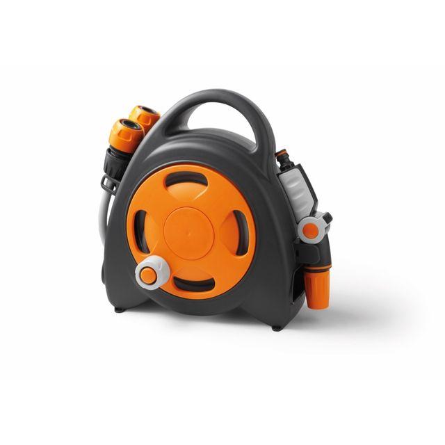 Divers Gf - Mini dévidoir Aquabag + raccords et lance d'arrosage 11,5 m - Orange