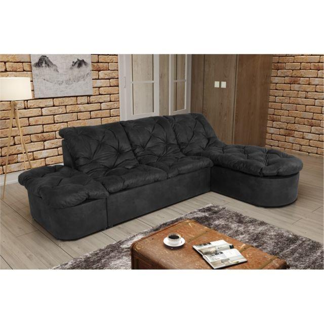 Rocambolesk Canapé Clac Lux L2P Tobago 17 antracite sofa divan