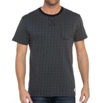 Bellfield - Tee-shirt épais gris imprimé poche poitrine