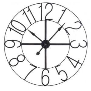 jardin d 39 ulysse horloge murale en m tal noir ajour modern pas cher achat vente. Black Bedroom Furniture Sets. Home Design Ideas