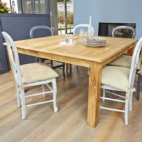 Table salle a manger bois brut achat table salle a for Table salle manger bois brut