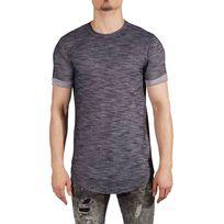 Tee Shirt semi-oversize manches retroussés Homme Paris 88171153, Taille: L, Couleur: Bleu