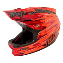 Troy Lee Designs - D3 - Casque intégral - Code orange/noir