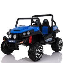 Voiture Electrique - Grand 4x4 buggy voiture électrique enfant 2 places pneus Eva 24V Bleu