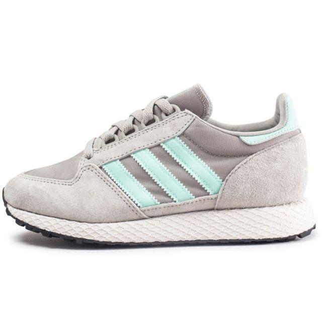 fcfa3226f12 Adidas - Forest Grove Grise Et Verte Femme - pas cher Achat   Vente ...