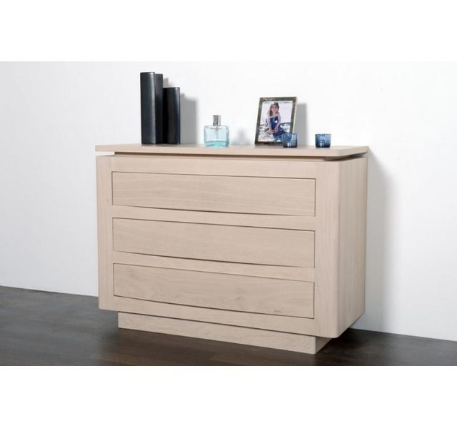 HELLIN Commode 3 tiroirs Atlantique