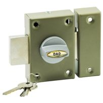 Carmine - Verrou de surete a bouton Cylindre 45 mm pour porte entree gache reversible gauche droite