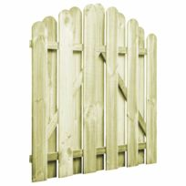 Portail De Jardin Bois Pin Imprégné 100x100 Cm Design D Arche Clôtures Et Barrières Portillons Vert Vert