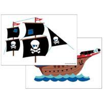 Forwalls - Sticker Mural Avec Chouette Et Fanions
